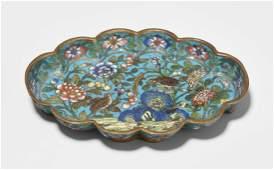 Kleine Schale China, Qing-Dynastie. Email cloisonné.
