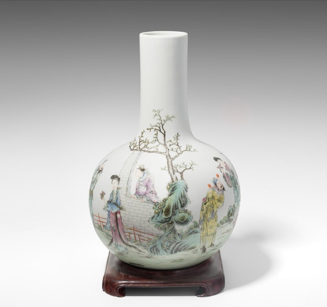 Tianqiu-Vase China, Republik-Zeit. Porzellan