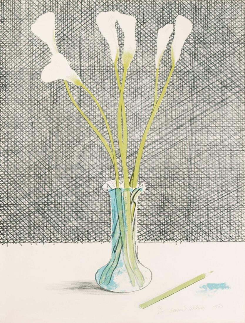 "Hockney, David (Bradford 1937) ""Lilies"". 1971."