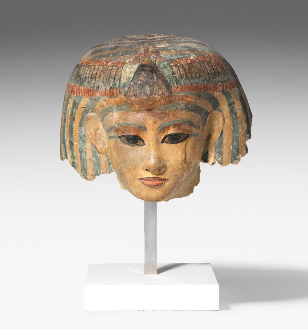 Totenmaske eines Hofbeamten Aegypten, Neues Reich,