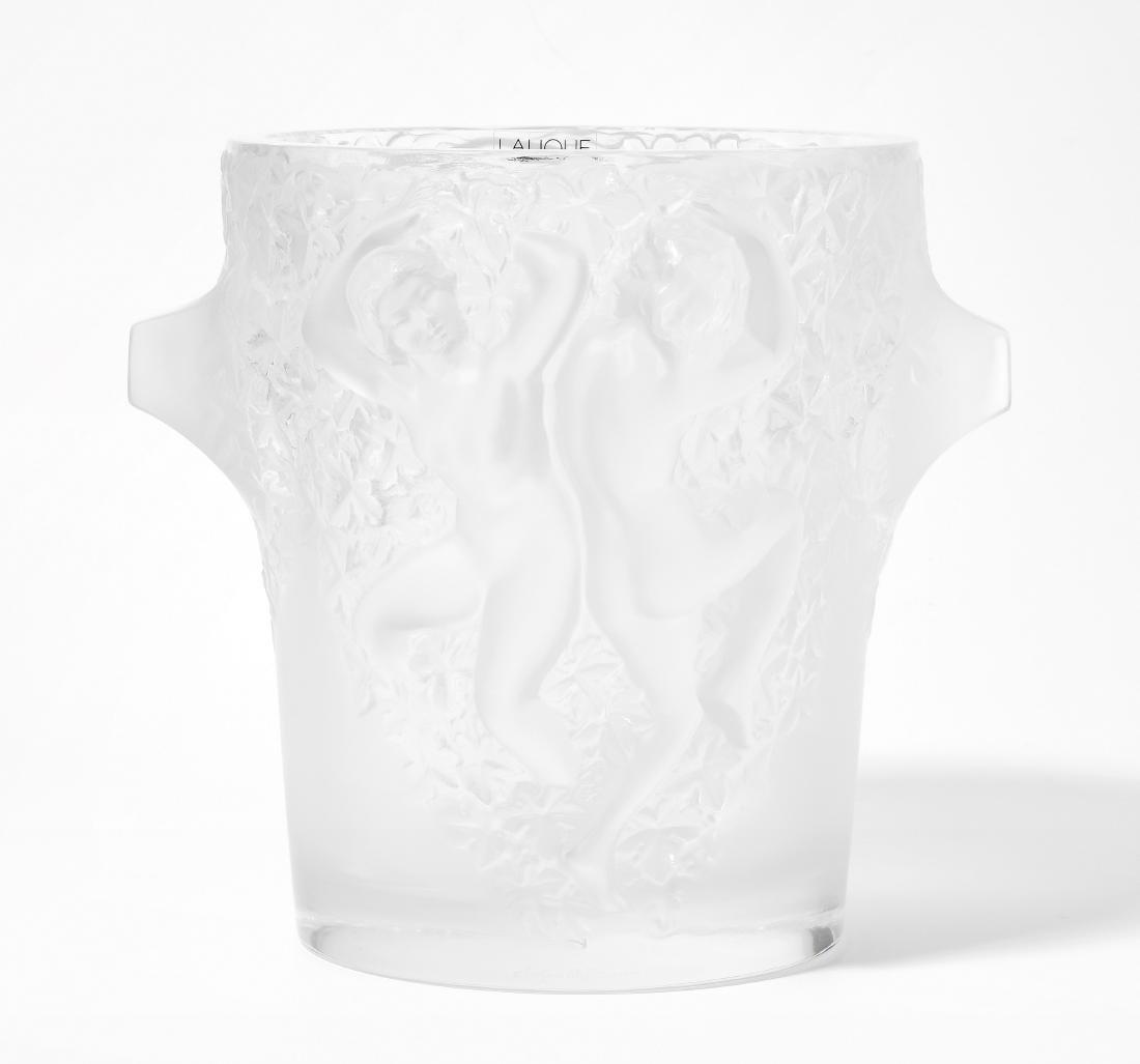 """Weinkühler, Lalique Um 1980. France. """"Ganymede""""."""