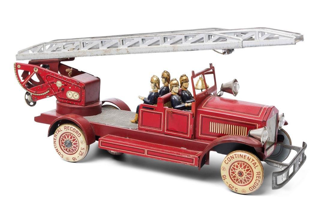 """Distler-Feuerwehrauto """"J.D. 3800"""" Deutschland, um 1930."""