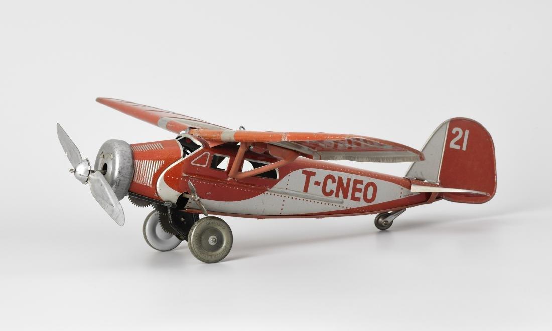 """Tippco-Flugzeug """"T-C-NEO"""" Deutschland, um 1936. Blech,"""