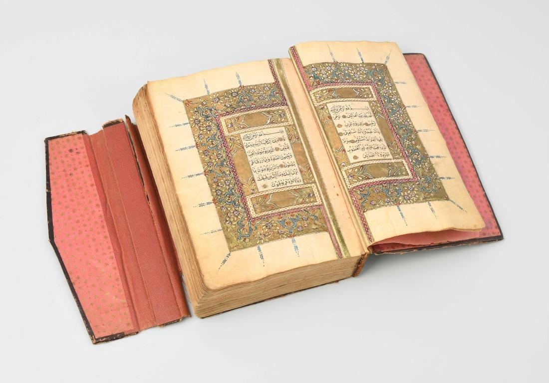 Koranmanuskript 19.Jh., wohl 1839/1840. Arabische