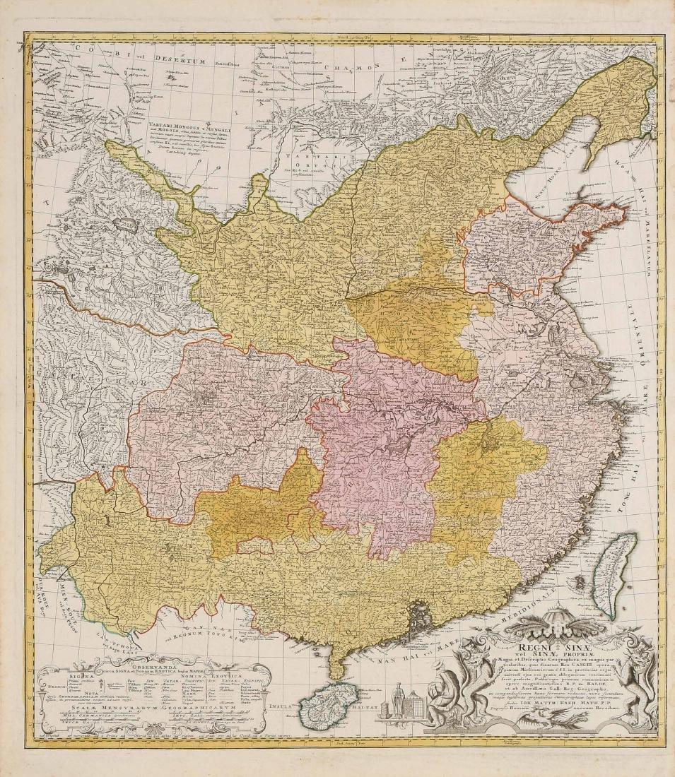 "Landkarte von China ""Regni Sinae vel Sinae Propriae""."