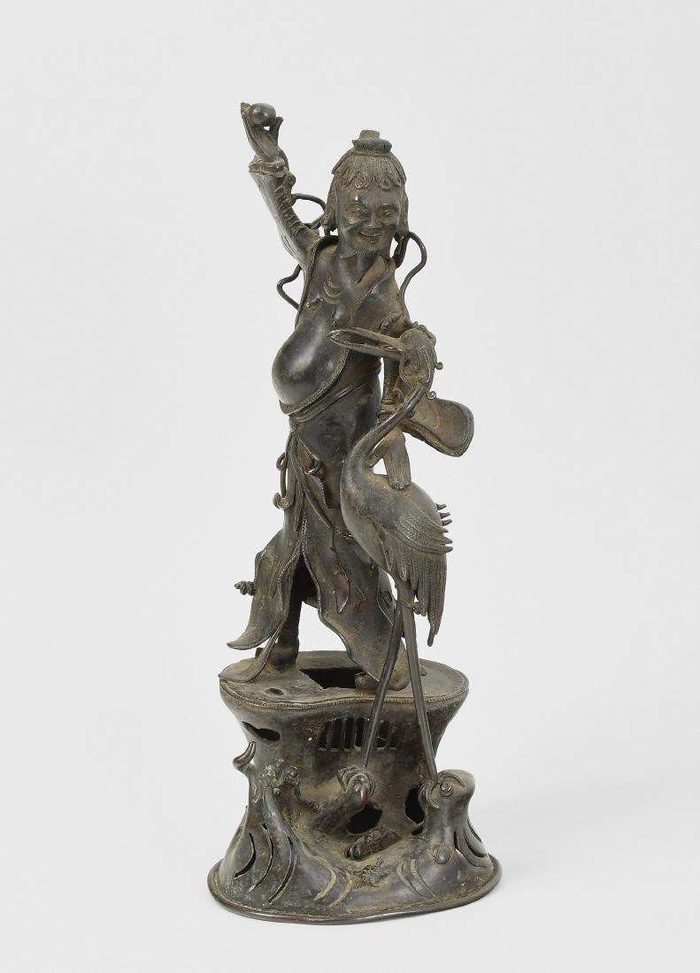 Figur China. Bronze. Figurengruppe mit Unsterblichem