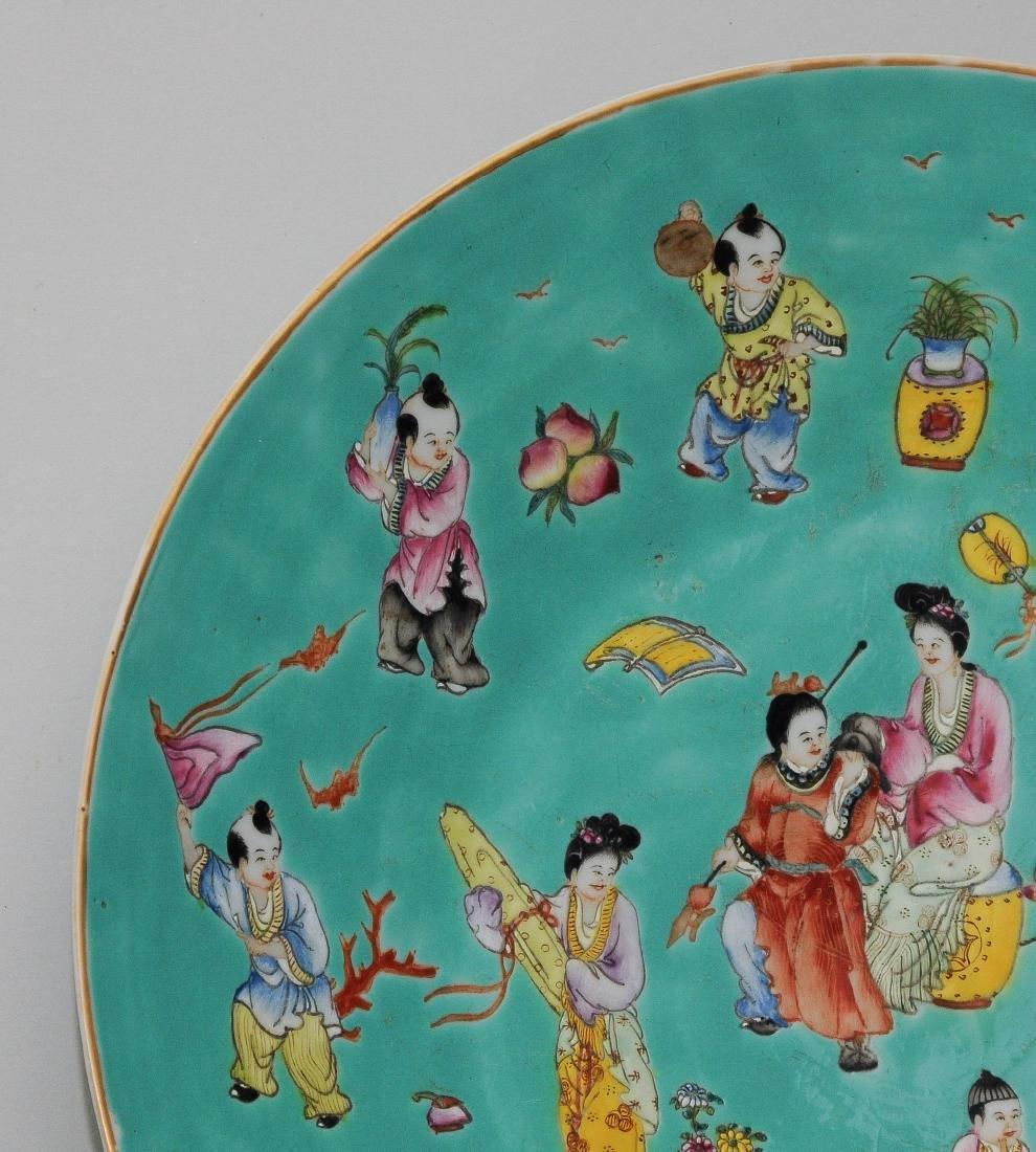 1 Paar Platten China, Republik-Zeit. Eisenrote - 10