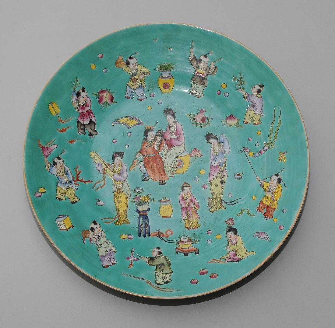 1 Paar Platten China, Republik-Zeit. Eisenrote - 2