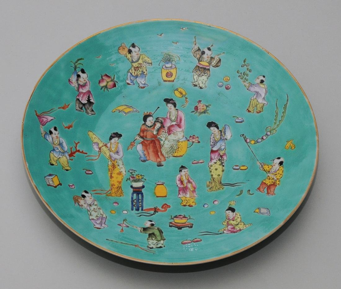 1 Paar Platten China, Republik-Zeit. Eisenrote - 9