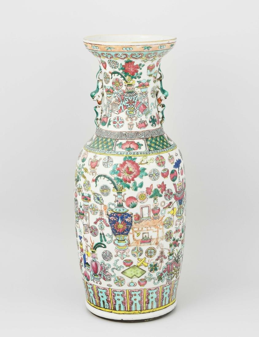 Bodenvase China, um 1900. Porzellan. Balusterform mit