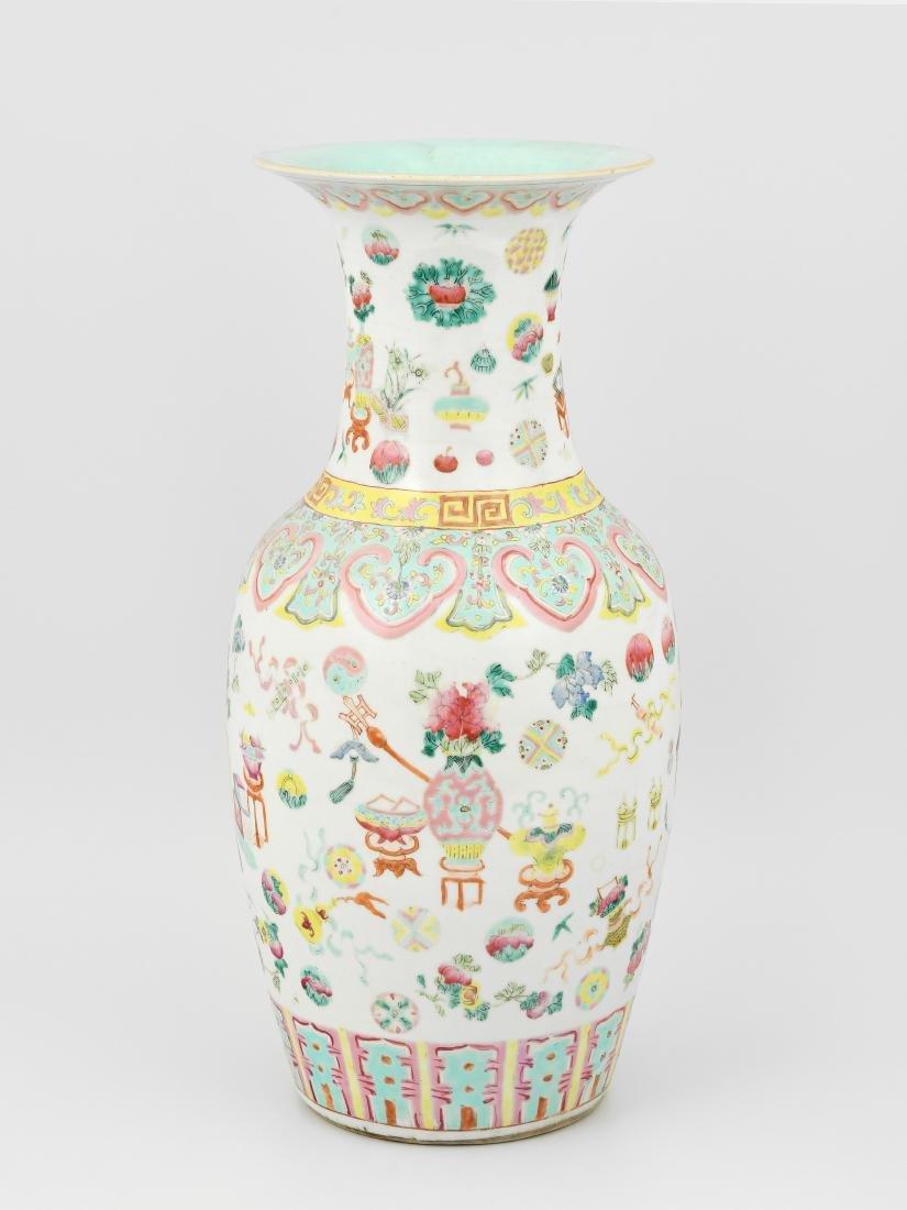 Vase China, 1.Hälfte 20.Jh. Porzellan. Balusterform.