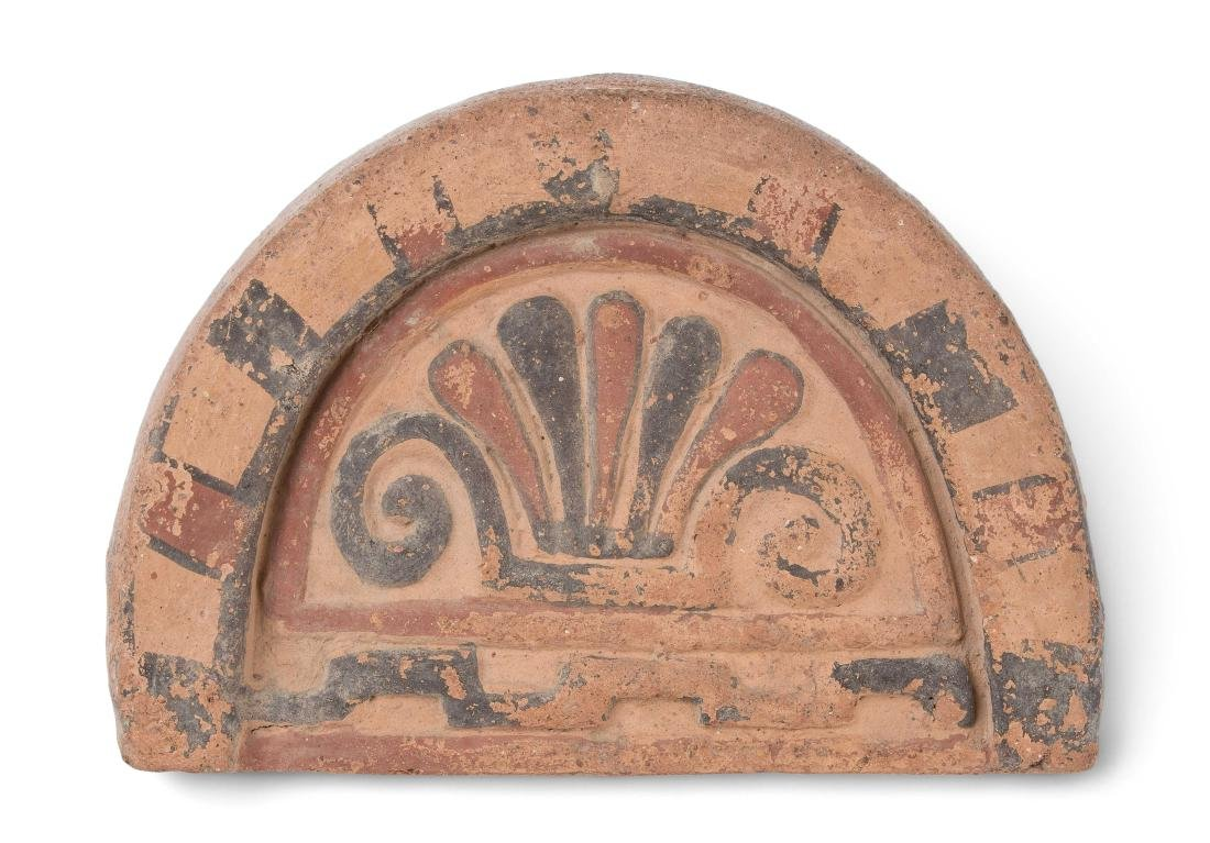 Antefix Phrygisch-Griechisch, 6.Jh. v.C. Terracotta mit