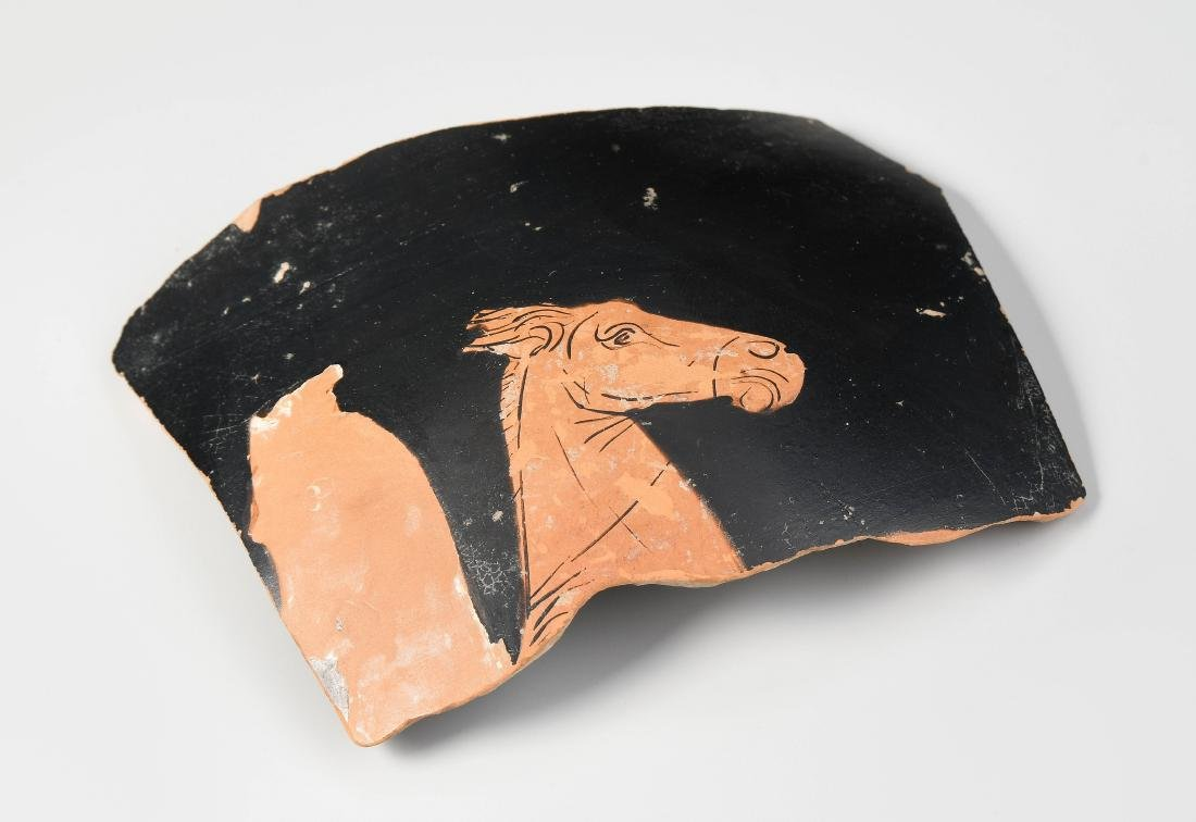 Vasenfragment Attisch, 4.Jh. v.C. Rotfiguriges