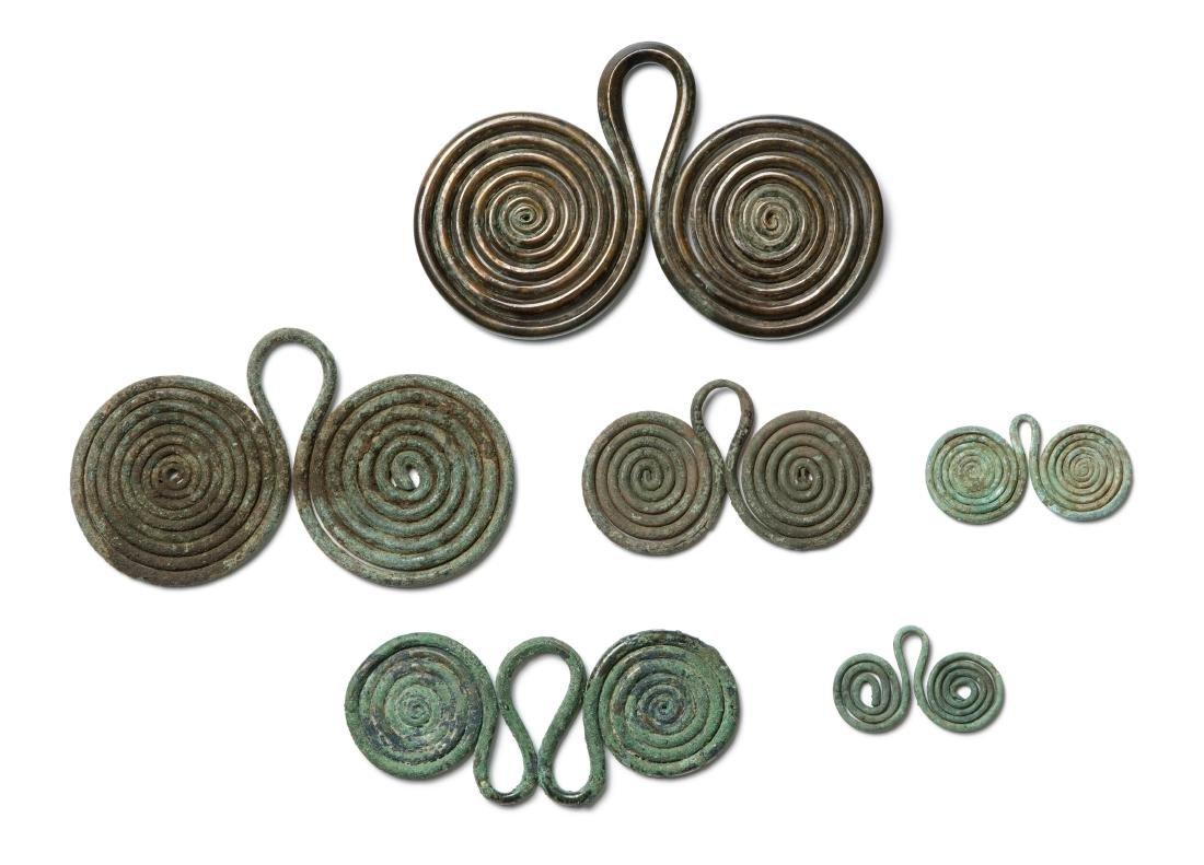 6 Doppelspiralen Bronzezeit, 10./9.Jh. v.C.