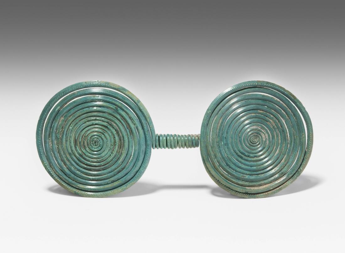 Doppelspirale Mitteleuropa, 14.–12.Jh. v.C. Bronze.