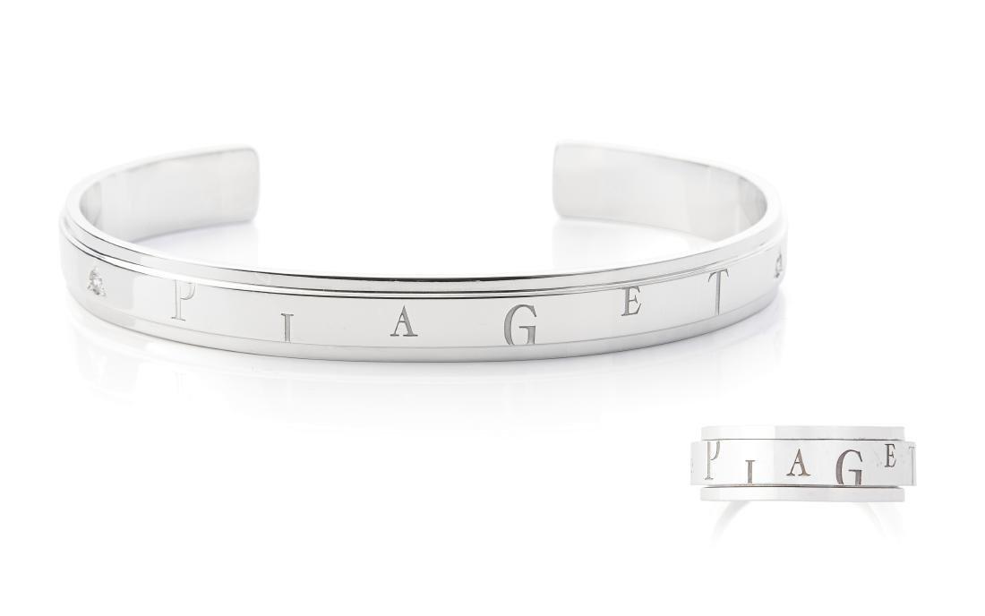 Piaget Diamant-Set Ref. E09246/E19377. 750 Weissgold.
