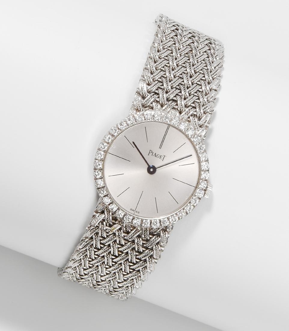 Piaget Diamant-Damenarmbanduhr 750 Weissgold.