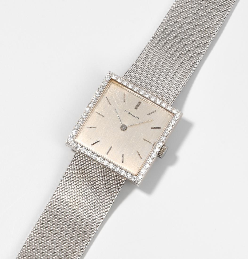 Movado Brillant-Damenarmbanduhr 750 Weissgold. Movado