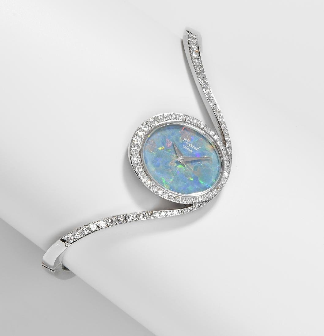 Chopard Opal-Brillant-Damenarmbanduhr 750 Weissgold.