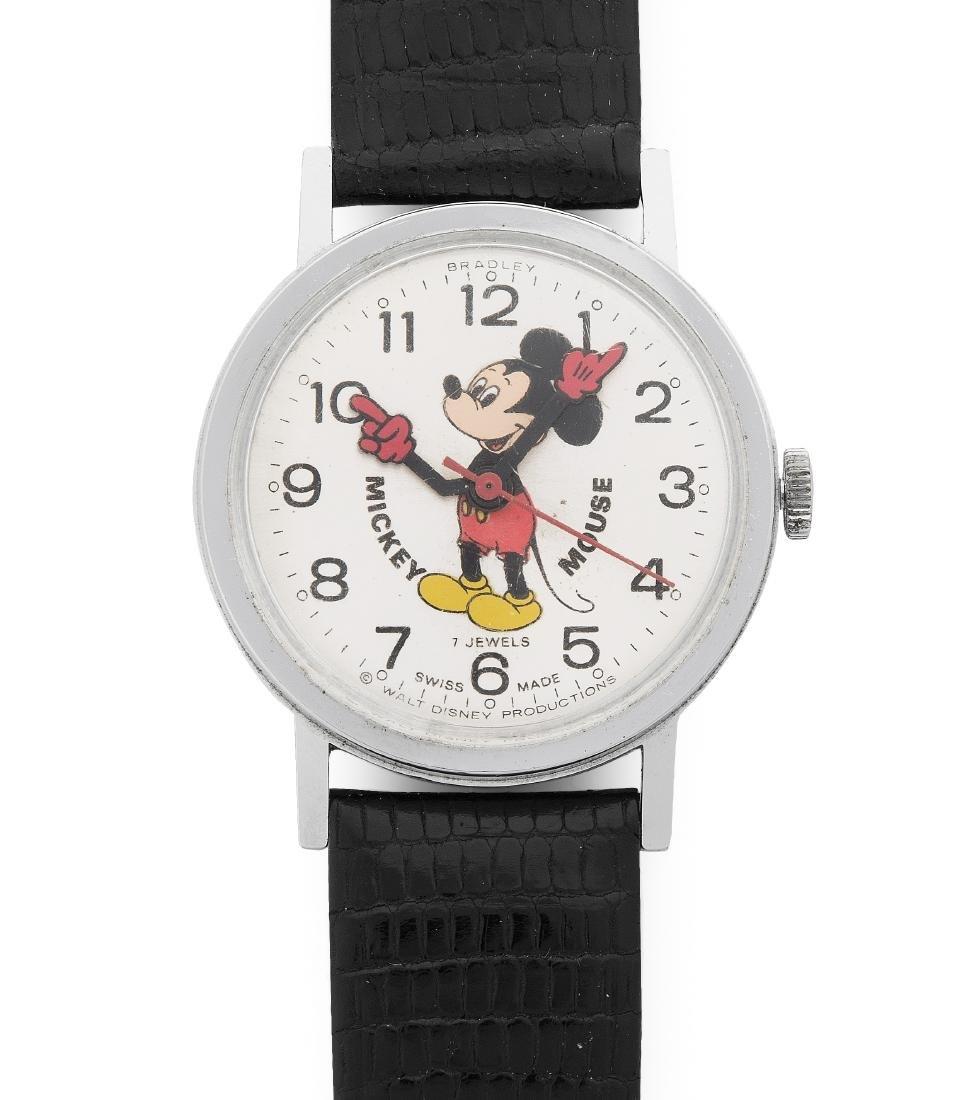 Bradley Mickey Mouse Runde, mechanische Armbanduhr 1965