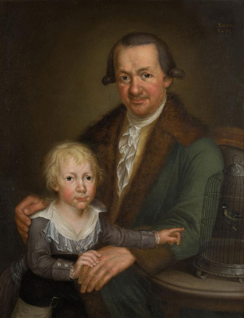 Löw, Franz Thomas (1756 Braz 1800) Vater mit seinem