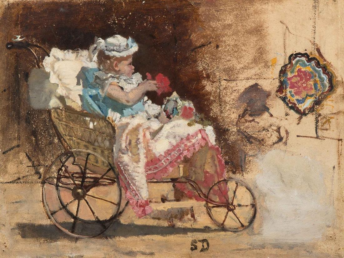 Durand, Simon (1838 Genf 1896) Kleinkind im
