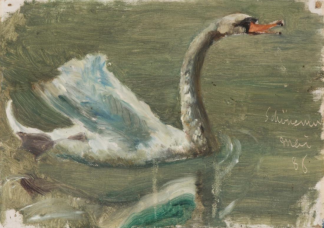 Buchser, Frank (1828 Feldbrunnen 1890) Schwanenstudie,