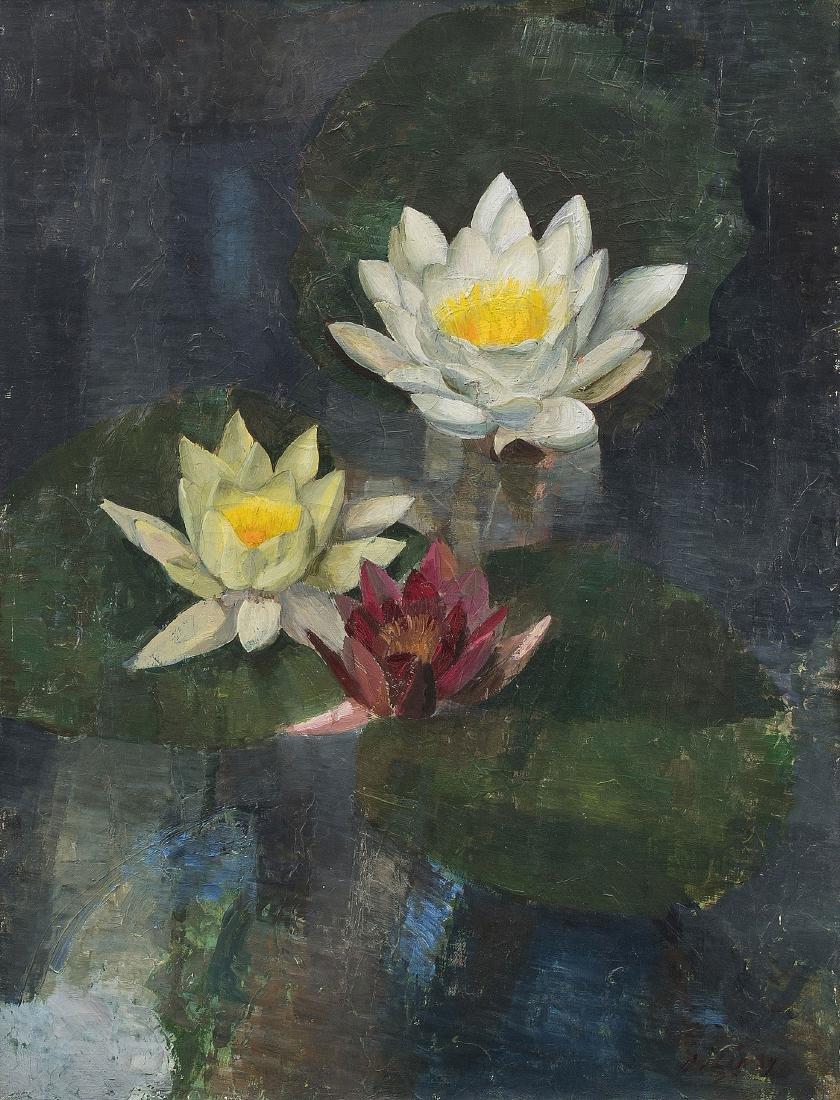Lüthy, Oscar (Bern 1882–1945 Zürich) Seerosen im Teich,