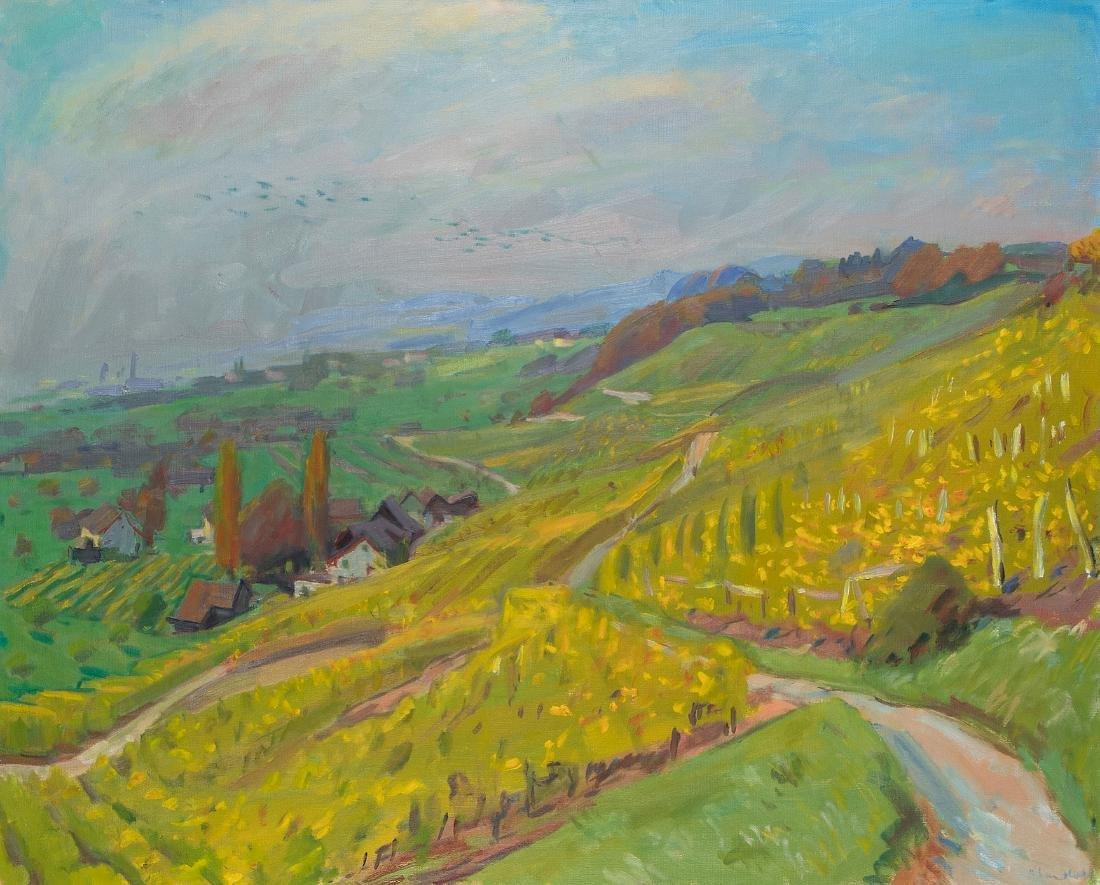 """Landolt, Karl (1925 Stäfa 2009) """"Lattenberg im Herbst"""","""