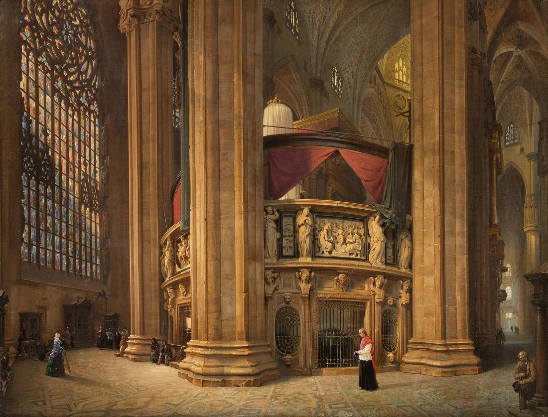Bisi, Luigi (1814 Mailand 1886) Blick in den Chorumgang