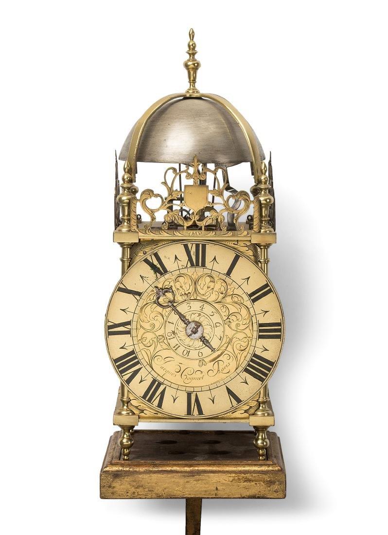 Einzeiger Laternenuhr Frankreich, um 1720.