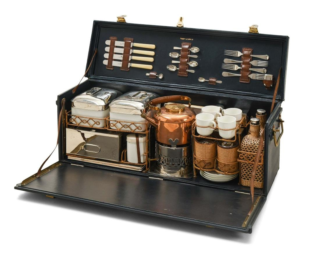 Mappin & Webb-Picknickkoffer für 4 Personen England, um