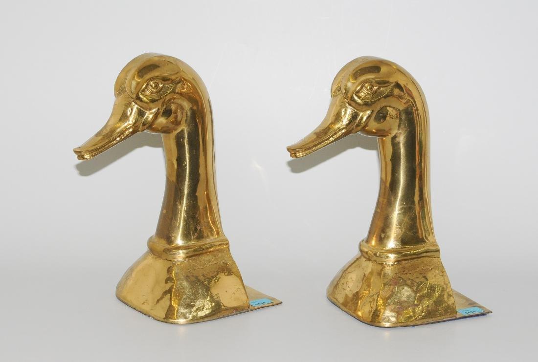 1 Paar Türstopper Um/Nach 1900. Bronze. In Form eines