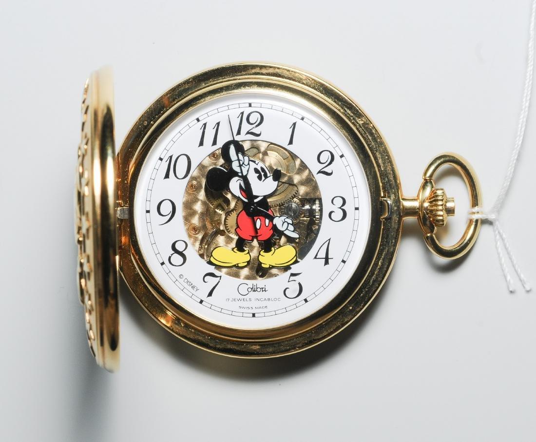Colibri Mickey Mouse Savonnette Runde, mechanische