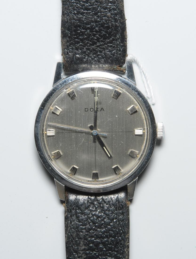 Doxa Runde, mechanische Herrenarmbanduhr 60er Jahre mit