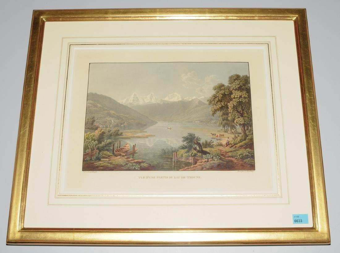 """Hilterfingen """"Vue d'une Partie du Lac de Thoune"""". Kol."""