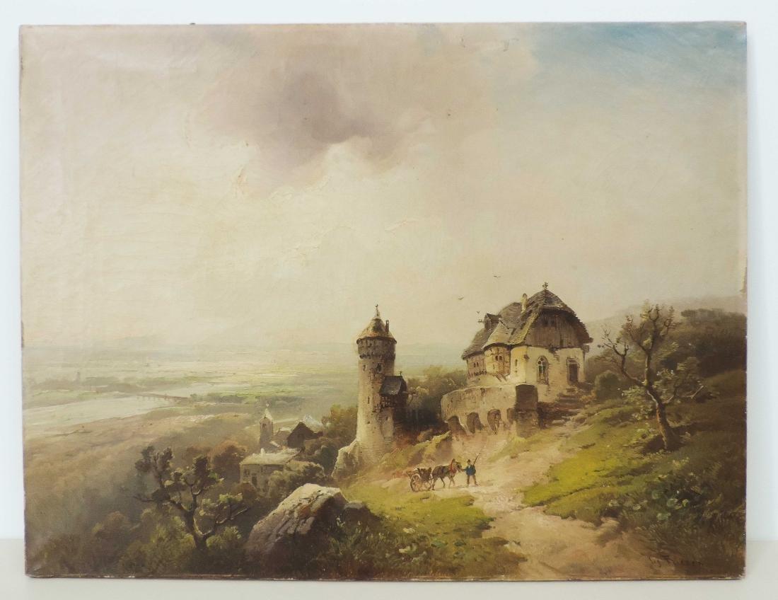 Friesen, Ludwig  (Deutschland 19.Jh.)  Dorf mit