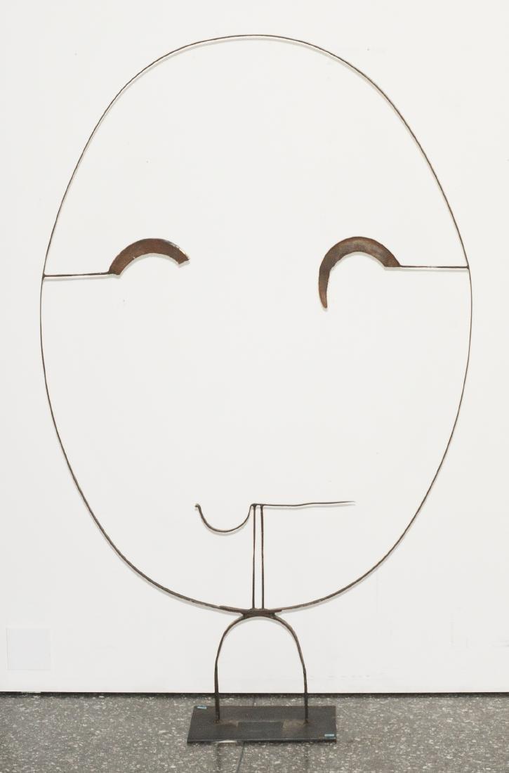 Egger, Rosemarie (Wien 1938) wohl Gesicht. Eisenplastik