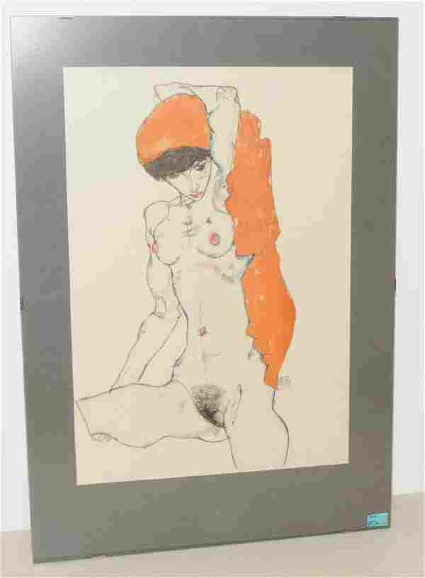 "Schiele, Egon (Tulln 1890–1918 Wien), nach Mappe: ""Egon"