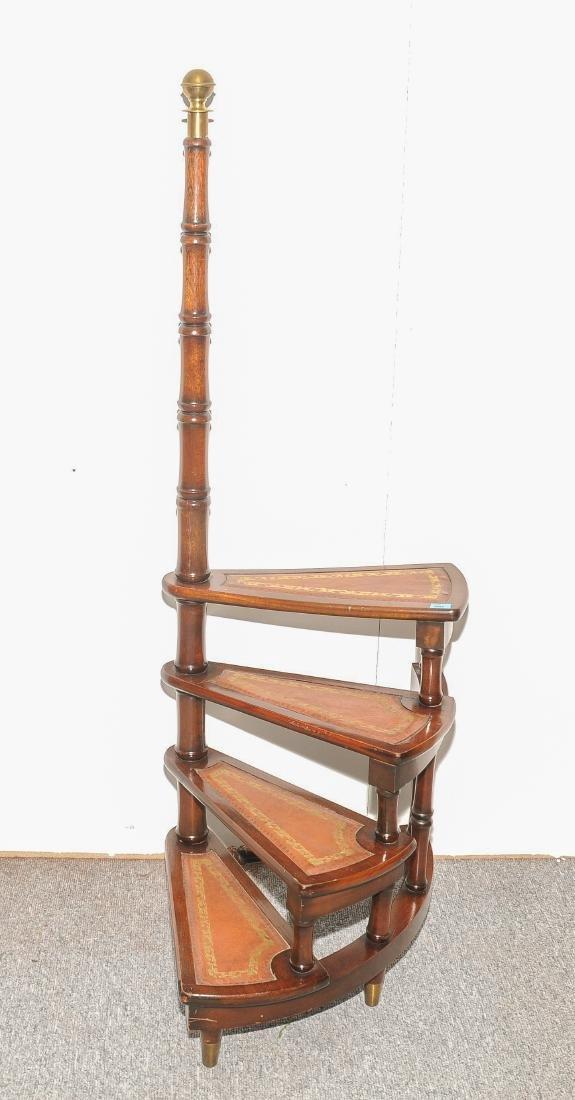 Kleine Bibliothekstreppe Regency-Stil 20. Jh. Mahagoni.