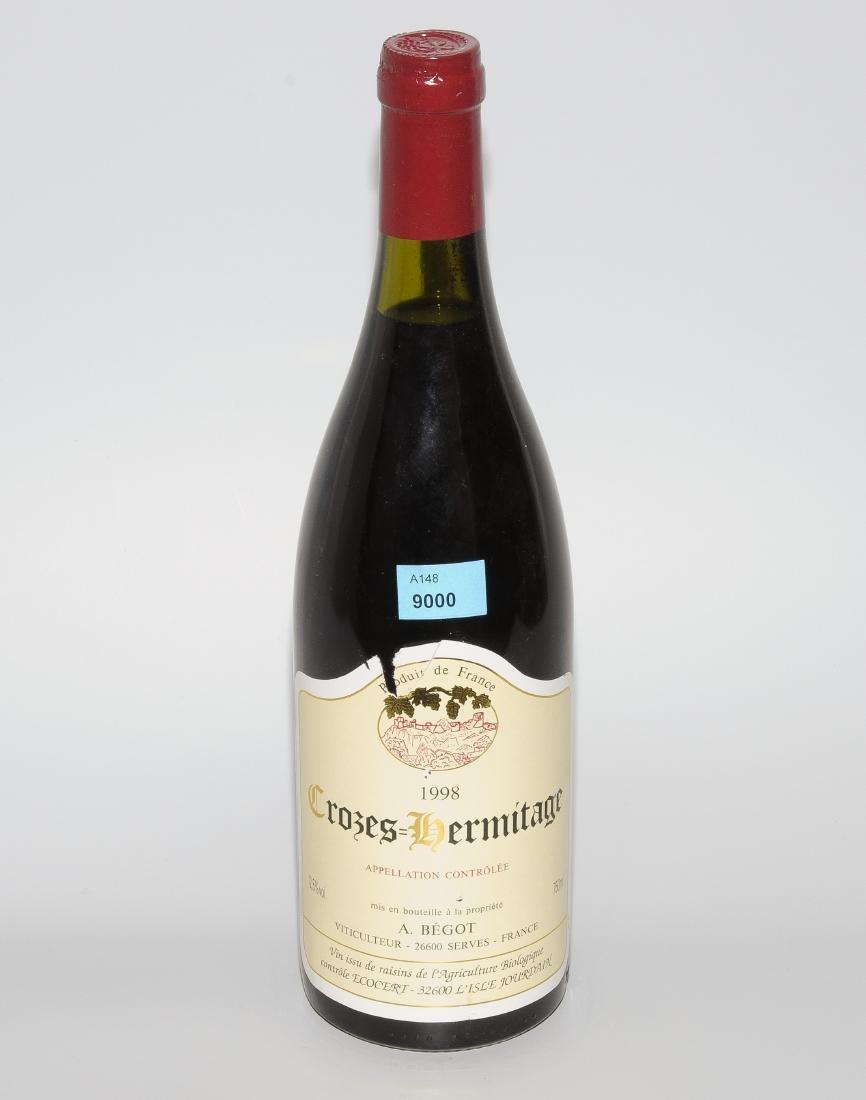 Crozes Hermitage 1998. Rhone. A.Begot. 12 Flaschen.