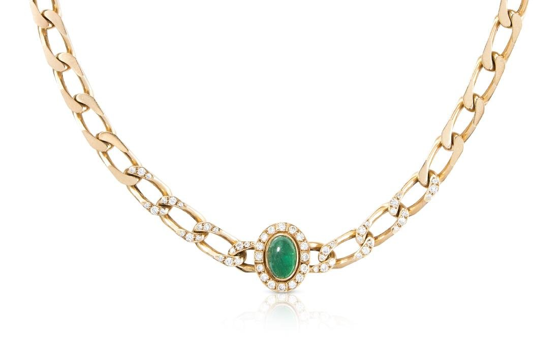 *Cartier Smaragd-Brillant-Collier Frankreich, 1960er