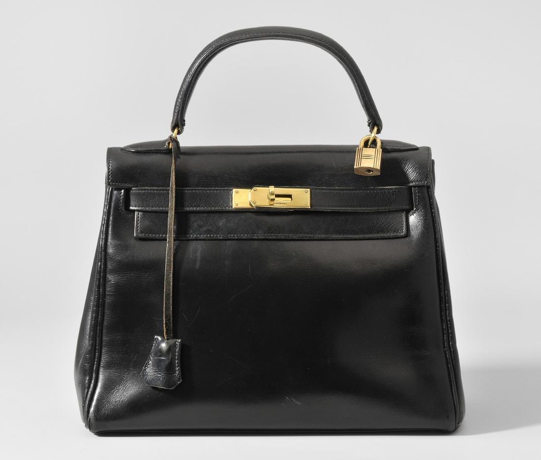 """*Hermès, Handtasche """"Kelly 28"""" Gemarkt Hermès / Paris."""