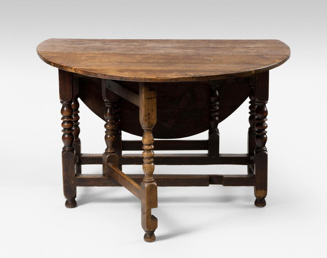 Gateleg Table Queen Anne-Stil,um 1800. Eiche.