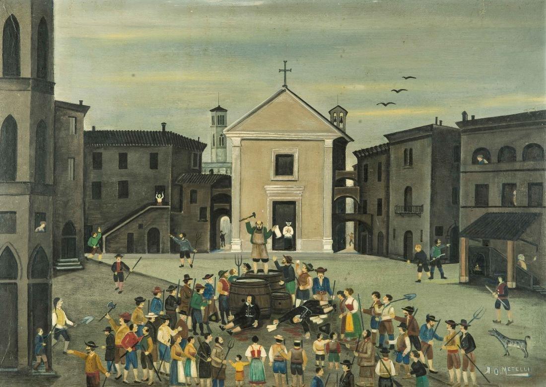 Metelli, Orneore  (1872 Terni 1938) Aufstand der Bauern