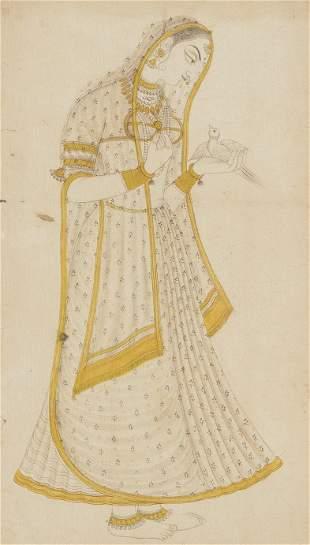 Portrait einer jungen Frau mit Vogel
