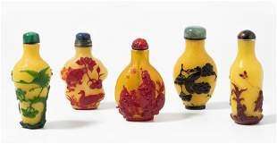 5 berfangglas Snuff Bottles