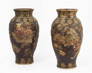 1 Paar FauxBronze Vasen