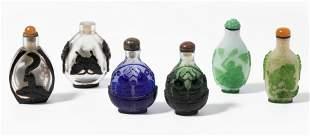 6 berfangglas Snuff Bottles