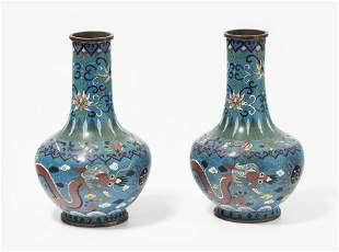 1 Paar kleine Vasen